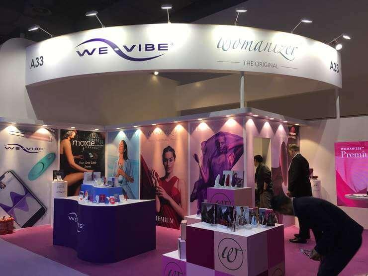 WE-VIBEの展示ブースもありました!