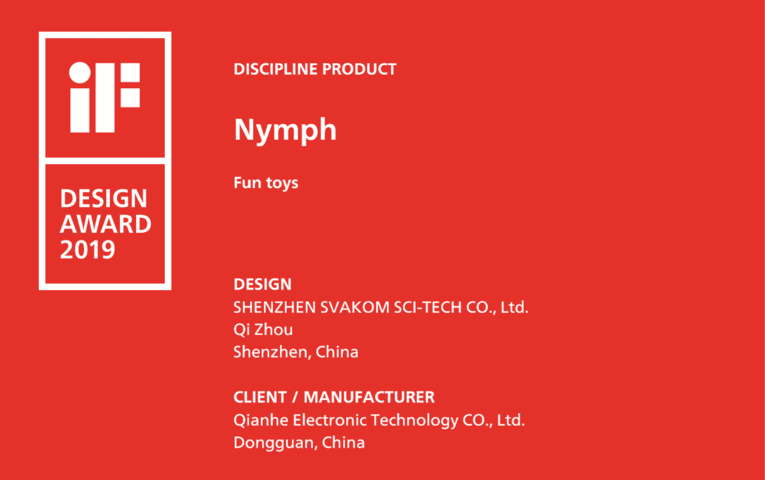 if design award SVAKOM nimph
